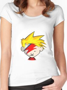 Calvin Hobbes Stardust Women's Fitted Scoop T-Shirt