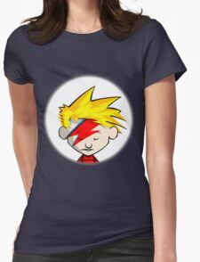 Calvin Hobbes Stardust Womens Fitted T-Shirt