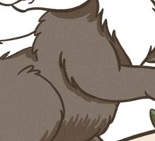 Be Brave Badger Crest Sticker