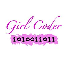 Girl Coder Photographic Print