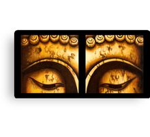 Buddha Eyes Diptych  Canvas Print