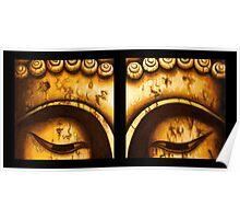 Buddha Eyes Diptych  Poster