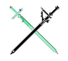 Pixel Series - Kirito's and Asuna's Swords Crossed by TitanApparel