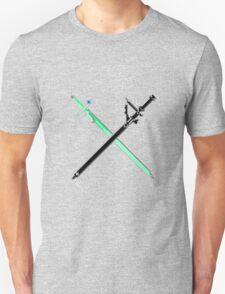Pixel Series - Kirito's and Asuna's Swords Crossed T-Shirt