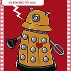 Dalek Valentine's Day Card by beckadoodles
