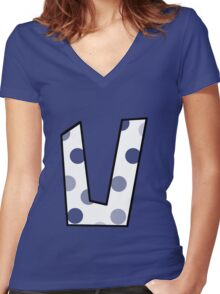 U Women's Fitted V-Neck T-Shirt