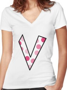 V Women's Fitted V-Neck T-Shirt
