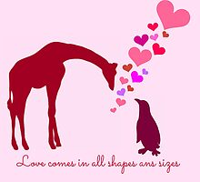 Love comes in all shapes and sizes by Rebeccarachel