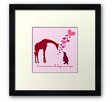 Love comes in all shapes and sizes Framed Print