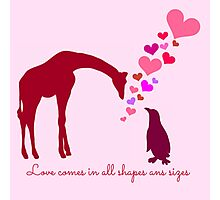 Love comes in all shapes and sizes Photographic Print