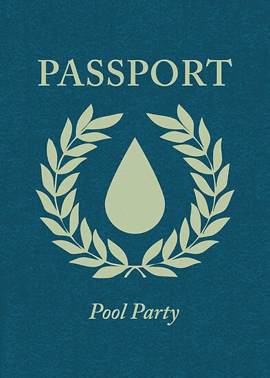 pool party passport by maydaze