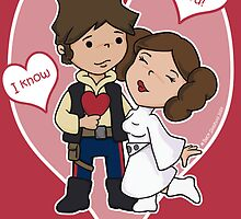 Han and Leia Valentine's Day card by beckadoodles