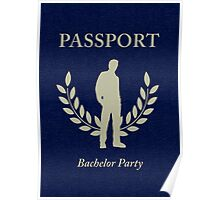 bachelor party passport Poster