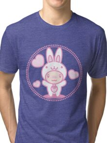 The stuffed toy of the rabbit Tri-blend T-Shirt