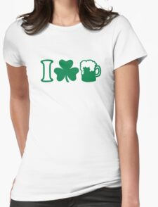 I love green beer Womens Fitted T-Shirt