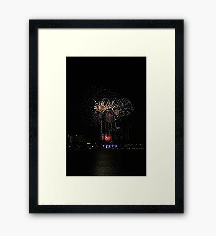Perth Fireworks  Framed Print