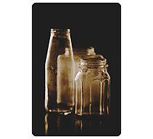 Empty bottles Photographic Print