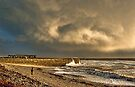 Clouds over The Cob at Lyme Bay , Jurassic Coast by SWEEPER