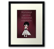 Little Girls Are Precious Gifts Poster Framed Print