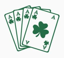 Poker cards shamrocks Kids Tee