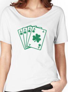 Poker cards shamrocks Women's Relaxed Fit T-Shirt