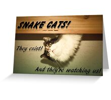 Snake Cats Greeting Card