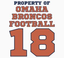 Property of Omaha Broncos Funny Parody Football T-Shirt by xdurango