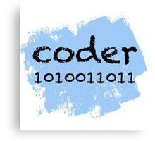 Coder Canvas Print