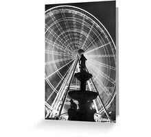 The 'Budapest Eye' overlooking Danubius Fountain in Erzsebet Square Greeting Card