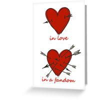 Your Heart on Fandoms Greeting Card