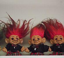 Trolls on a Shelf by Naomi May