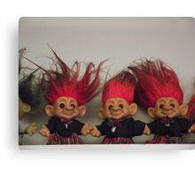 Trolls on a Shelf Canvas Print