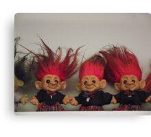 Trolls on a Shelf Canvas Print