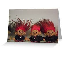 Trolls on a Shelf Greeting Card