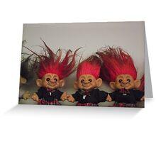 Trolls on a Shelf Greeting Card