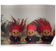 Trolls on a Shelf Poster