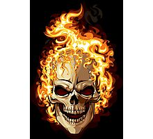 Fire Skull Ghost Rider Photographic Print