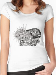 Psychedelic Chameleon Women's Fitted Scoop T-Shirt