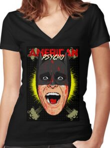 American Psycho Gotham Edition Women's Fitted V-Neck T-Shirt