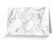 White Marble Print Greeting Card