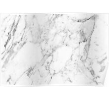 White Marble Print Poster