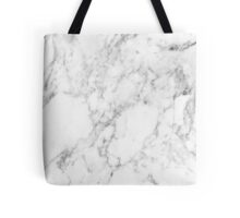 White Marble Print Tote Bag
