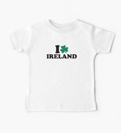 I love Ireland shamrock Baby Tee