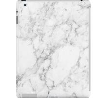 White Marble Print iPad Case/Skin