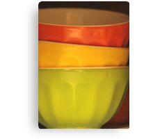 Three Bowls Canvas Print