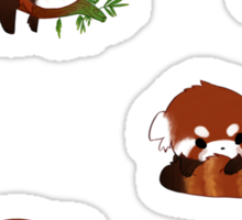 Red Panda Chibi Stickers Sticker