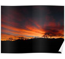 Winter sunset Colorado Springs Poster