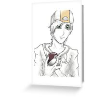 Pokemon Trainer Gold Greeting Card