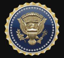 Presidential Service Badge - PSB 3D on Red Velvet Kids Clothes