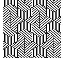 Black and White Geometric Pattern Photographic Print